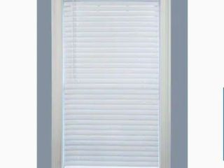 Project Source Premium 2 in Slat Width 34 in x 72 in Cordless White Vinyl Room Darkening Plantation Blinds