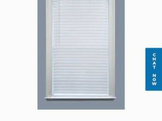 Project Source 1in Cordless Vinyl light Filtering Mini Blind 34inx64in