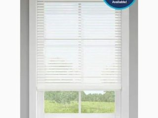levolor 2  in Walnut Faux Wood Blinds Precut To 28 1 2 x64