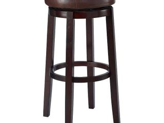 Maya Swivel Barstool Brown   linon