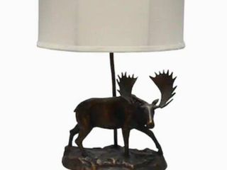 litex Ozark 22 in Bronze Incandescent Table lamp with Fabric Shade