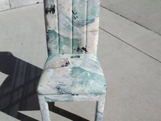 Patterned Fabric Cushion chairs