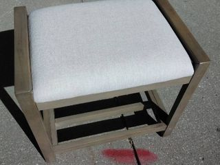 White Canvas foot stool
