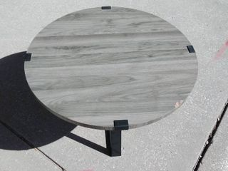 large Grey Coffee table with black metal feet