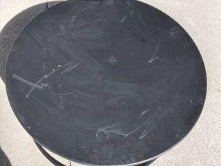 large Black Metal Coffee Table