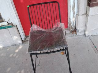 Black Wire Barstool Chair with Cushion
