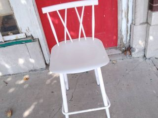 Gloss White Metal Dining Chair