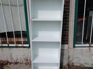 White book shelf  4 shelves