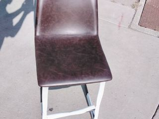 Faux leather Barstool Chair Coffee Brown