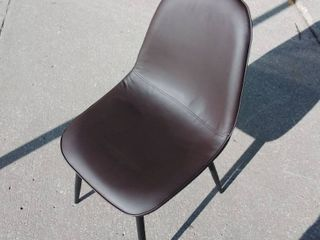 Faux leather Dining Chair Coffee Brown