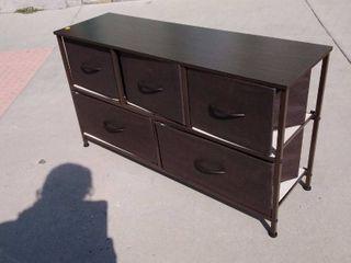 Dresser with Storage Bins Brown 39 5w x 12l x 22H