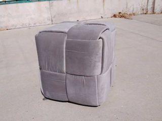 Grey ottoman 18w x 18l x 18H