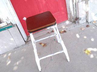 Dark Brown and Black bar stool 12w x 12l x 25H