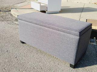 Grey Storage Ottoman 35w x 16l x 17H