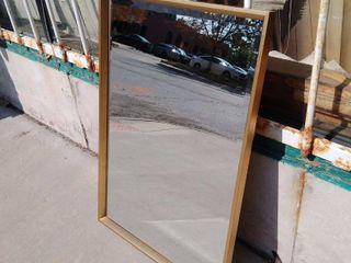 Gold Mirror 25 5w x 2 5l x 38H