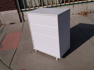 White 4 Drawer Chest 31w x 18 5l x 40H