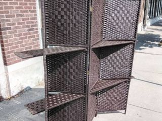 Room Divider with shelves  Coffee brown