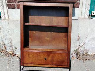 Hanging Medicine Cabinet wooden medium brown