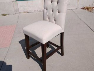 linen Upholstered Barstool Chair 24w x 18l x 40H