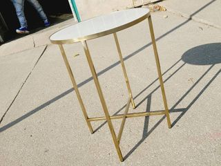 Granite Top End Table with Gold legs