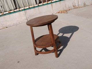Round Wooden End Table 20w x 20l x 24H