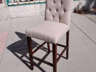 Tan Barstool Chair 19w x 20l x 44H