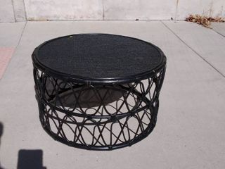 Black Round Coffee Table 32w x 32l x 18H