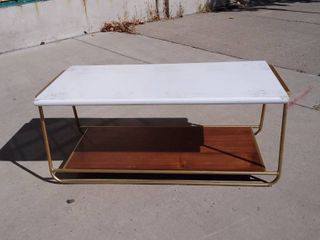 White   Gold Table 43w x 20l x 18H