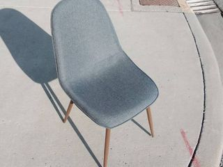 Grey Canvas Cushioned Chair