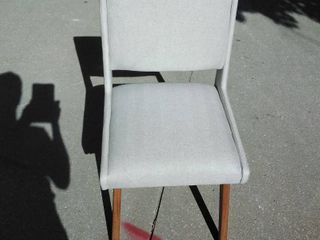 Beige Dining Chair with wooden feet