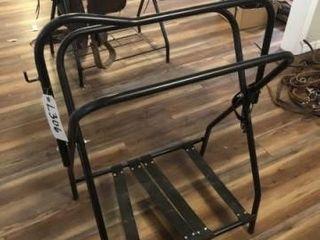 Adjustable  foldable black metal saddle rack