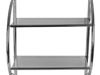 Home Basics Chrome Plated Steel 2 tier Bathroom Shelf