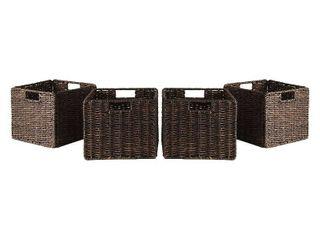 Granville Foldable Corn Husk Baskets  Set of 4