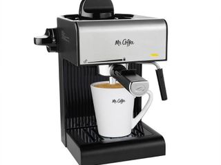 Mr  Coffee Caf 20 Ounce Steam Automatic Espresso Maker and Cappuccino Machine with Built in Frothing Wand  Black