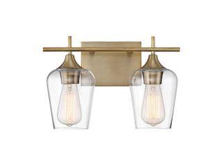 Carson Carrington Alta 2 light Bath Bar Warm Brass  Retail 123 98