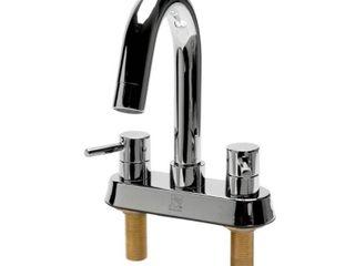 AlFI brand AB1400 PC Polished Chrome Two Handle 4  Centerset Bathroom Faucet   Silver  Retail 202 03
