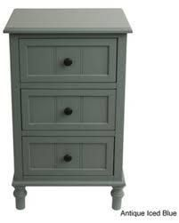 Copper Grove Hoxie Simplify 3 drawer Chest  Retail 117 99 blue