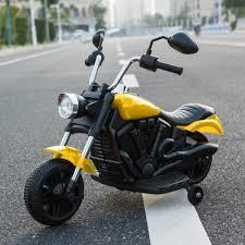 Kids Electric Ride On Motorcycle With Training Wheels 6V 4 Colors  Retail 84 49 yellow and black