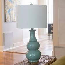 Copper Grove Arans Table lamp with Off white Drum Shade  26 5