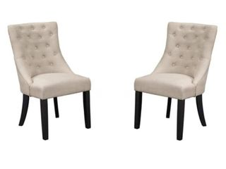 Alpine Prairie Set of Two Upholstered Dining Chairs  Retail 229 99