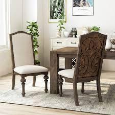 The Gray Barn Cornerways Rustic Ivory Fabric Side Chairs  Set of 2  Retail 409 99