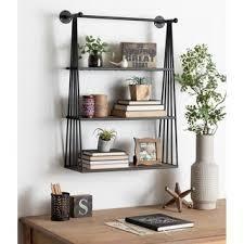 Carbon loft Revell Wall mounted Hanging Shelf  Retail 161 49 black