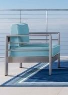 Cape Coral Outdoor Aluminum club chair only