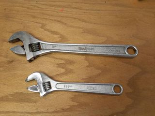2 Adjustable Wrenches   8  and 12