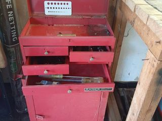 ToolBox and Cabinet with Contents