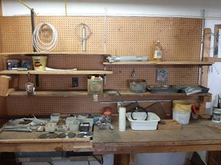 Assorted Hardware and Contents of Counter