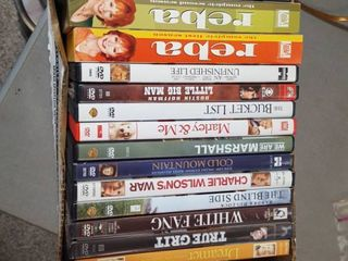 assorted DVDs and CDs