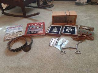 Catch All lot   Belt with Buckle Marked Sterling Front