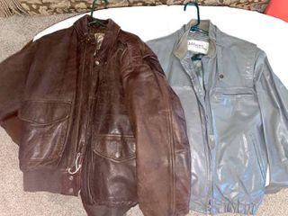 two leather mens jackets
