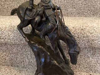 Mountain Man by Frederic Remington statue   chipped